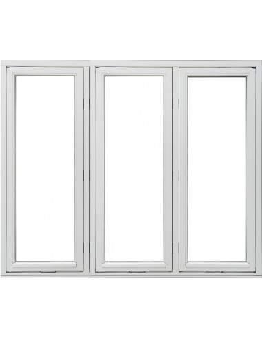 Utåtgående Sidohängt 3-Luft Träfönster