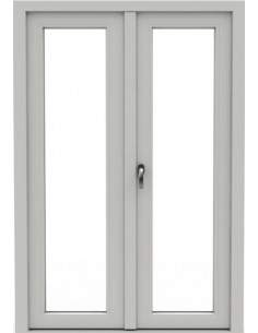 Utåtgående pardörr PVC